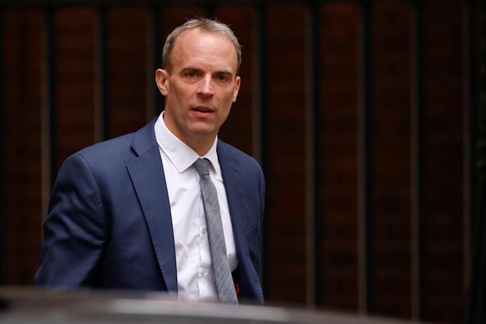 Foreign secretary Dominic Raab has been criticised for being 'too busy' to make a phone call to help Afghan interpreters. (Reuters)