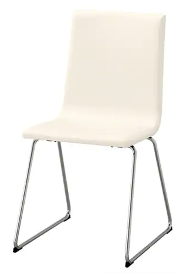 """<p>This IKEA VOLFGANG chair—or any simple white chair like it, for that matter—could definitely use a magic touch.</p><p><strong><a class=""""link rapid-noclick-resp"""" href=""""https://go.redirectingat.com?id=74968X1596630&url=https%3A%2F%2Fwww.ikea.com%2Fus%2Fen%2Fcatalog%2Fproducts%2F80404752%2F&sref=https%3A%2F%2Fwww.bestproducts.com%2Fhome%2Fg29514474%2Fbest-ikea-hacks%2F"""" rel=""""nofollow noopener"""" target=""""_blank"""" data-ylk=""""slk:BUY NOW"""">BUY NOW</a> <em>VOLFGANG Chair, </em></strong><em><strong>$69, ikea.com</strong></em></p>"""