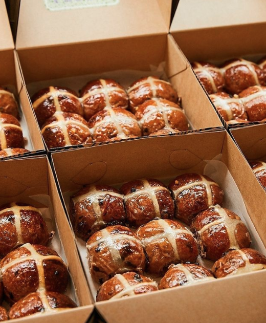 Hot cross buns from Black Star Pastry