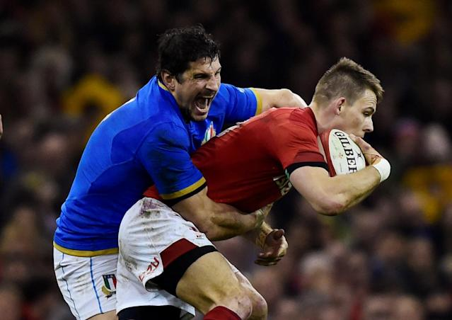 Rugby Union - Six Nations Championship - Wales vs Italy - Principality Stadium, Cardiff, Britain - March 11, 2018 Wales' Liam Williams in action with Italy's Alessandro Zanni REUTERS/Rebecca Naden TPX IMAGES OF THE DAY