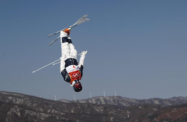 <p>PYEONGCHANG-GUN, SOUTH KOREA – FEBRUARY 08: Mogul Skier Benjamin Cavet of France trains ahead of the PyeongChang 2018 Winter Olympic Games. (Getty Images) </p>
