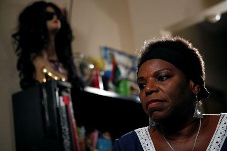 Tanya Walker, a 53-year-old transgender woman, activist and advocate, gives an interview at her apartment in New York City, U.S. September 7, 2016. Picture taken September 7, 2016. REUTERS/Brendan McDermid