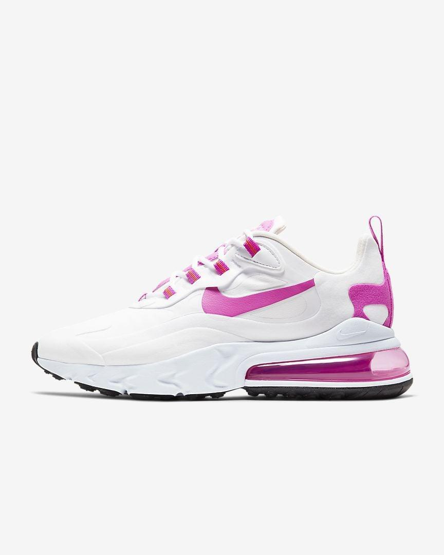 "<p><a href=""https://www.popsugar.com/buy/Nike-Air-Max-270-React-Sneakers-584518?p_name=Nike%20Air%20Max%20270%20React%20Sneakers&retailer=nike.com&pid=584518&price=160&evar1=fab%3Aus&evar9=47571677&evar98=https%3A%2F%2Fwww.popsugar.com%2Ffashion%2Fphoto-gallery%2F47571677%2Fimage%2F47571947%2FNike-Air-Max-270-React-Sneakers&list1=shopping%2Cshoes%2Csneakers%2Csummer%2Csummer%20fashion%2Cfashion%20shopping&prop13=mobile&pdata=1"" rel=""nofollow noopener"" class=""link rapid-noclick-resp"" target=""_blank"" data-ylk=""slk:Nike Air Max 270 React Sneakers"">Nike Air Max 270 React Sneakers</a> ($160)</p>"