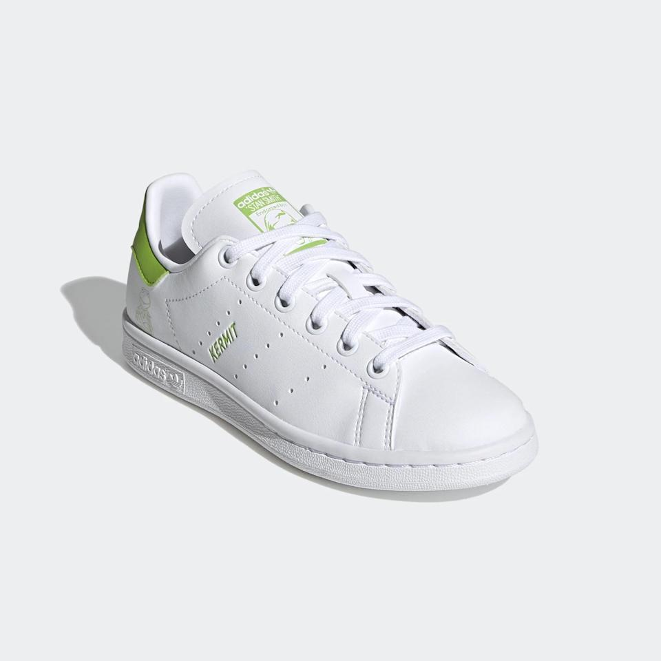 <p><span>Adidas Stan Smith Kermit the Frog Shoes For Big Kids</span> ($75)</p>