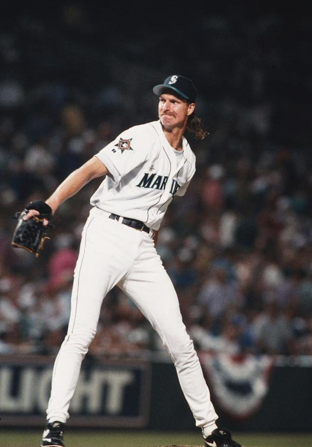 Randy Johnson (Photo by MLB via Getty Images)