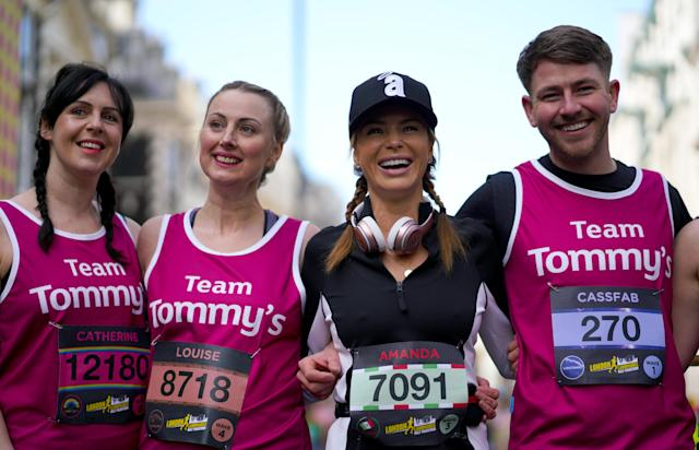 Amanda Holden has raised money for baby loss charity Tommy's. (Photo by John Walton/PA Images via Getty Images)