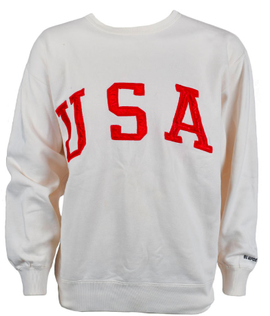 The cream-colored sweatshirt that sold for more than $7,500, (RR AUCTION)