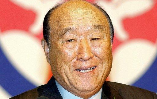 Unification Church founder Sun Myung Moon in 2002