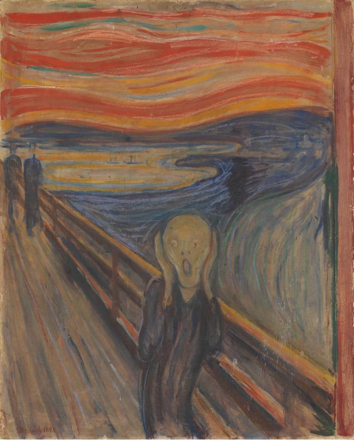 """""""The Scream"""" by Edvard Munch, 1893. <span class=""""copyright"""">(National Gallery of Norway)</span>"""