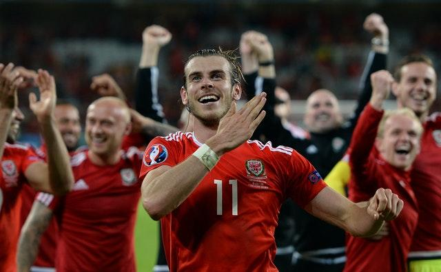Gareth Bale celebrates after helping Wales defeat much-fancied Belgium in the quarter-finals of Euro 2016