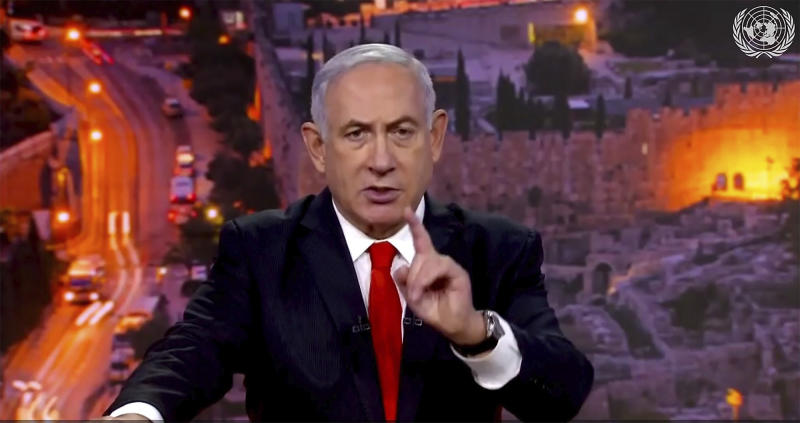 Israeli PM to UN: Hezbollah storing missiles in Beirut