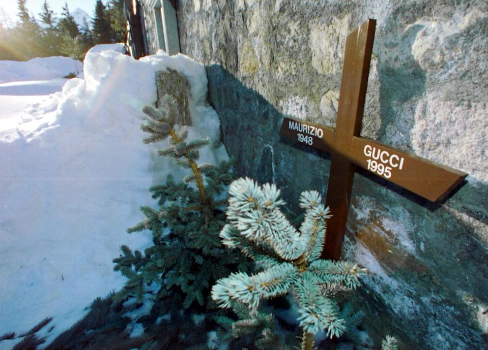 Grave of Maurizio Gucci in St. Moritz, 1997   (Photo by Blick/RDB/ullstein bild via Getty Images)