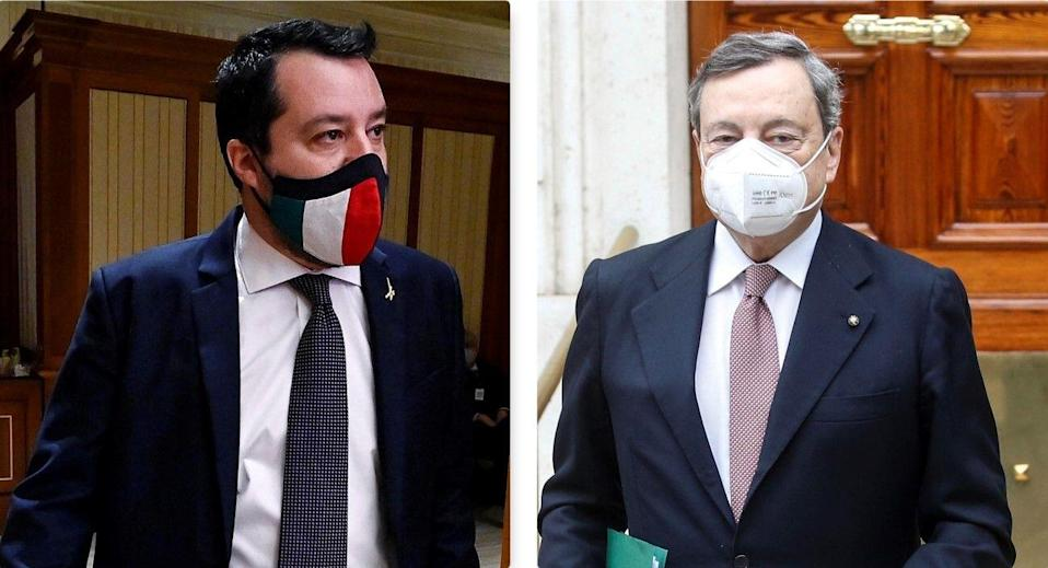 Salvini/Draghi (Photo: ansa)