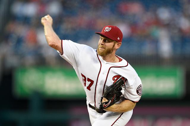 "When <a class=""link rapid-noclick-resp"" href=""/mlb/players/8562/"" data-ylk=""slk:Stephen Strasburg"">Stephen Strasburg</a> is healthy, he's one of the better hurlers in the game. (AP Photo/Nick Wass)"