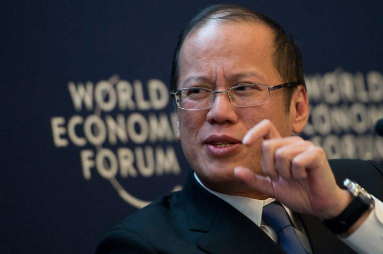 Philippine President Benigno Aquino, pictured in Davos, on January 25, 2013