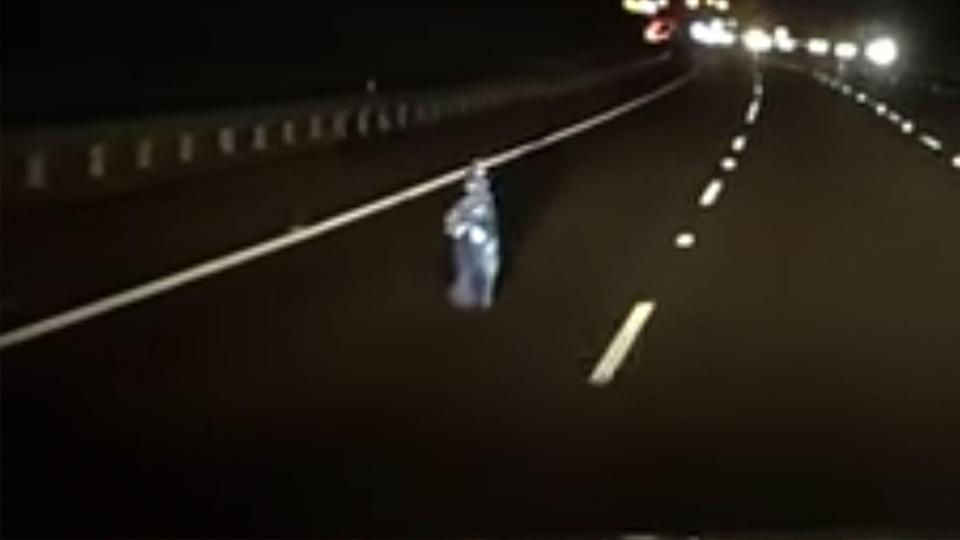 The mysterious figure seen on the road
