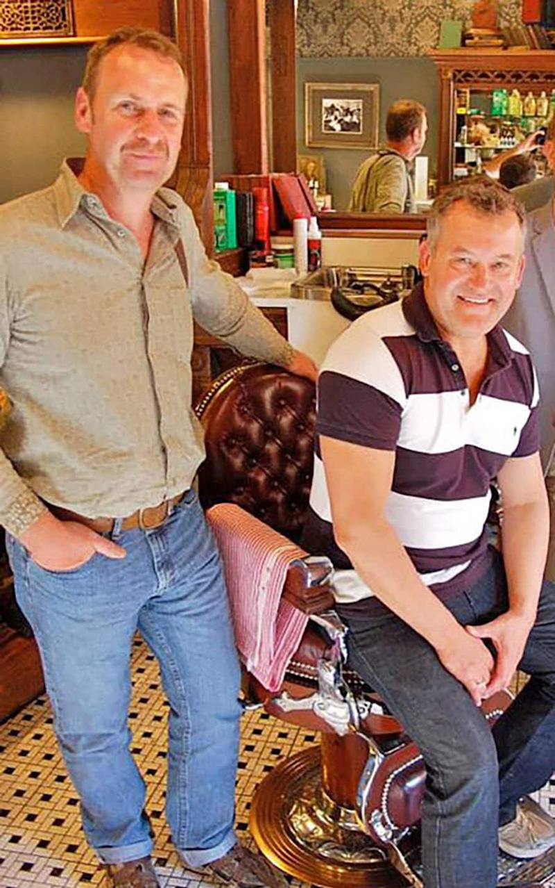 Paul Burrell, right, is due to marry his boyfriend Graham Cooper, left, next month