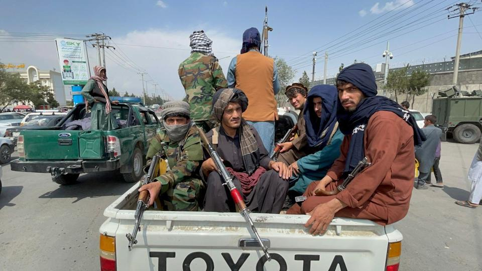 Taliban take control of Hamid Karzai International Airport after the completion of the U.S. withdrawal from Afghanistan, in Kabul, Afghanistan on August 31, 2021. (Haroon Sabawoon/Anadolu Agency via Getty Images)