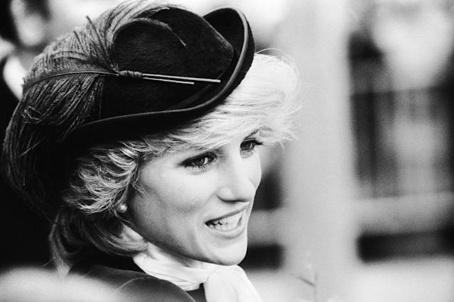 Princess Diana, pictured in Wales in October 1981, has been crowned the most attractive female royal by science. (Jayne Fincher/Getty Images)