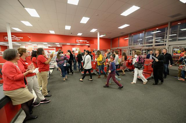 Black Friday shoppers arrive at a Target in Miami in 2014. (Gustavo Caballero via Getty Images)