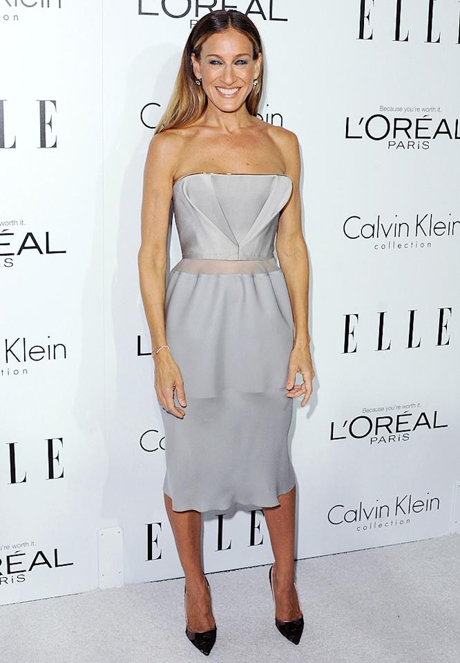 BEVERLY HILLS, CA - OCTOBER 15:  Actress Sarah Jessica Parker arrives at the 19th Annual ELLE Women In Hollywood Celebration at the Four Seasons Hotel Los Angeles at Beverly Hills on October 15, 2012 in Beverly Hills, California.  (Photo by Jon Kopaloff/FilmMagic)