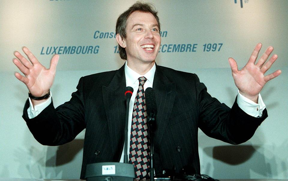 Tony Blair pictured in December 1997 (Photo: Franck Fife/Shutterstock)