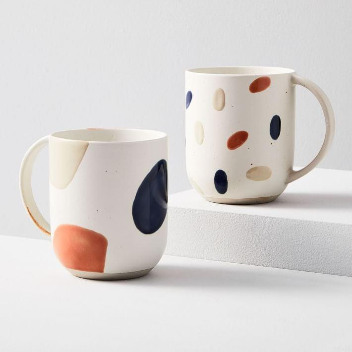 <p>Drink your morning brew from these cute <span>West Elm Sway Mugs</span> ($9-$34).</p>
