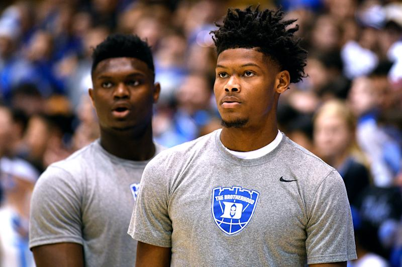 Zion Williamson's fellow rookies appear to share wide-held concerns that Zion Williamson's weight is a problem. (Getty)