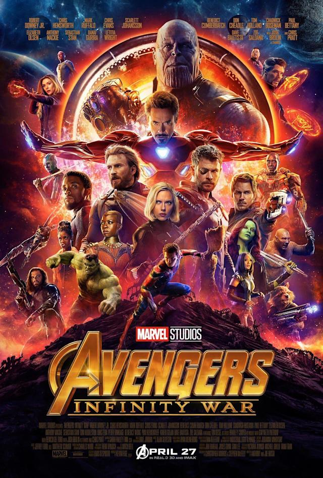 """""""Avengers: Infinity War"""" is now the fifth-highest-grossing movie of all time."""