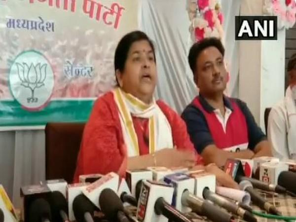 Madhya Pradesh Minister Usha Thakur during a press conference in Indore on Tuesday. (Photo/ANI)