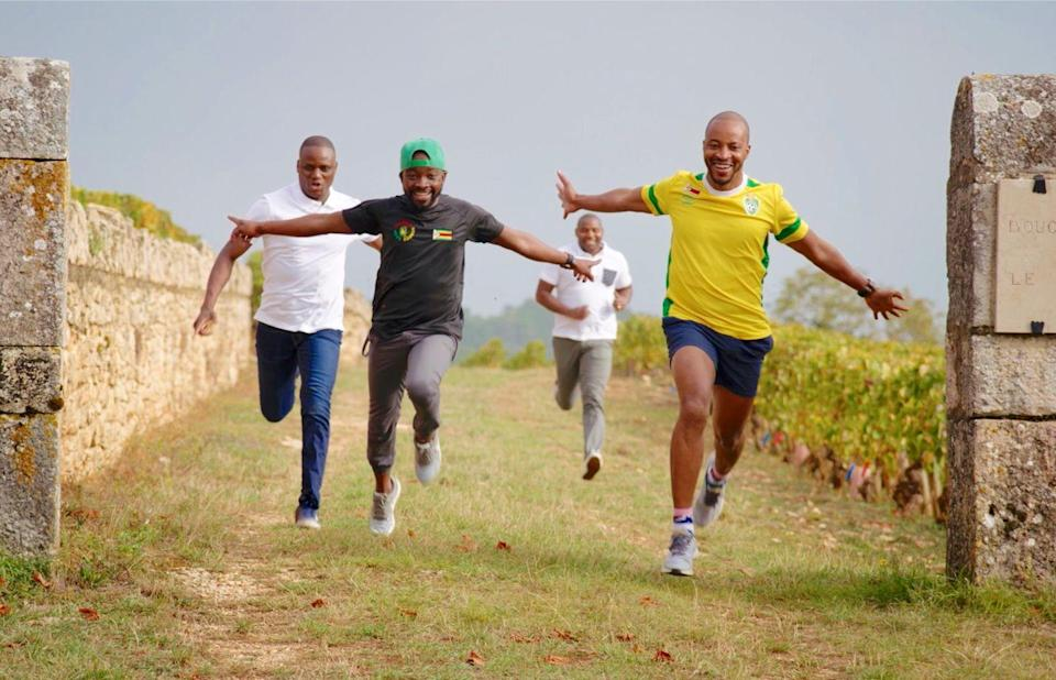 <p>What happens when four oenophile Zimbabweans make their way to South Africa and, eventually, the World Wine Blind Tasting Championships? This documentary from directors Robert Coe and Warwick Ross follows the rousing adventure of a group of friends who make their way to the world's most exclusive wine event, charting what they learn (and taste) along the way.</p>