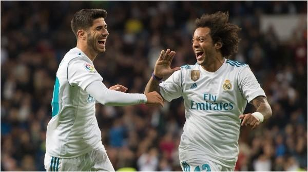 Marcelo y Marco Asensio, Real Madrid