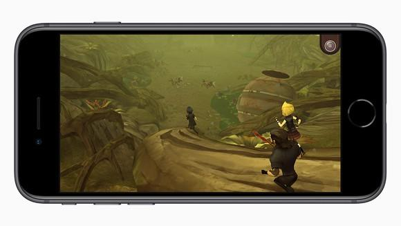 Apple's iPhone 8 running an intensive 3D game.