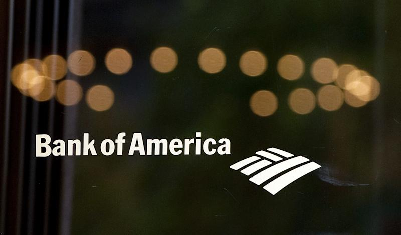 This August 19, 2011 photo shows a Bank of America logo on a door outside a bank branch in Washington, DC (AFP Photo/Saul Loeb)