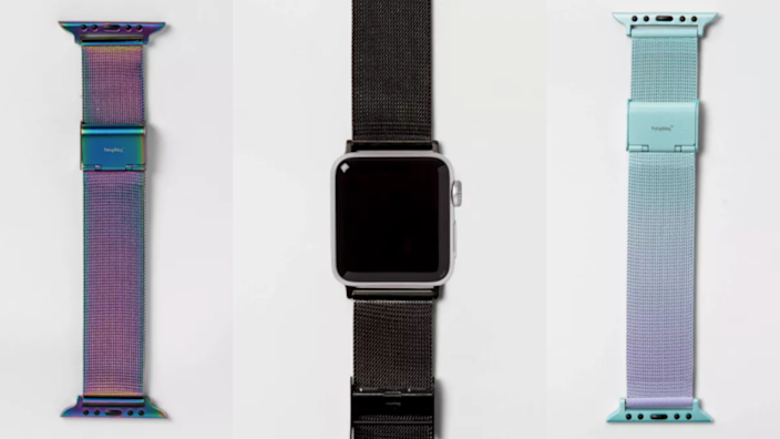 This band is made of stainless steel mesh.