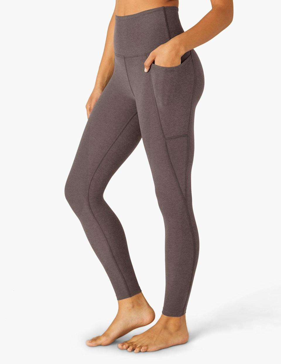 """<p>""""You can pretty much always catch me in a matching workout set. I am obsessed with both the color and the material of this <span> Beyond Yoga Spacedye Slim Racerback Cropped Tank </span> ($66) and <span> Out Of Pocket High Waisted Midi Leggings</span> ($99) set. It's the perfect neutral, and it'll be hard to get me to take it off."""" - IY</p>"""