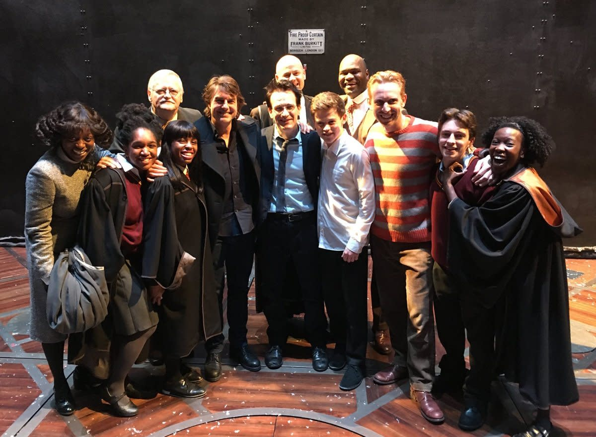 <em>Mission: Impossible</em> star Tom Cruise visited with the London cast after sitting through the play in February 2017.