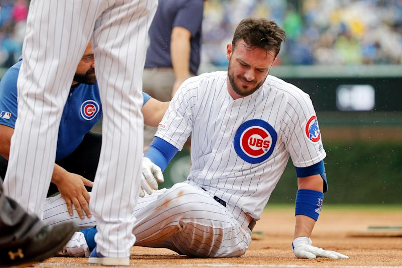 Kris Bryant's agent blamed MLB for not acting to make bags safer in wet conditions. (Reuters)