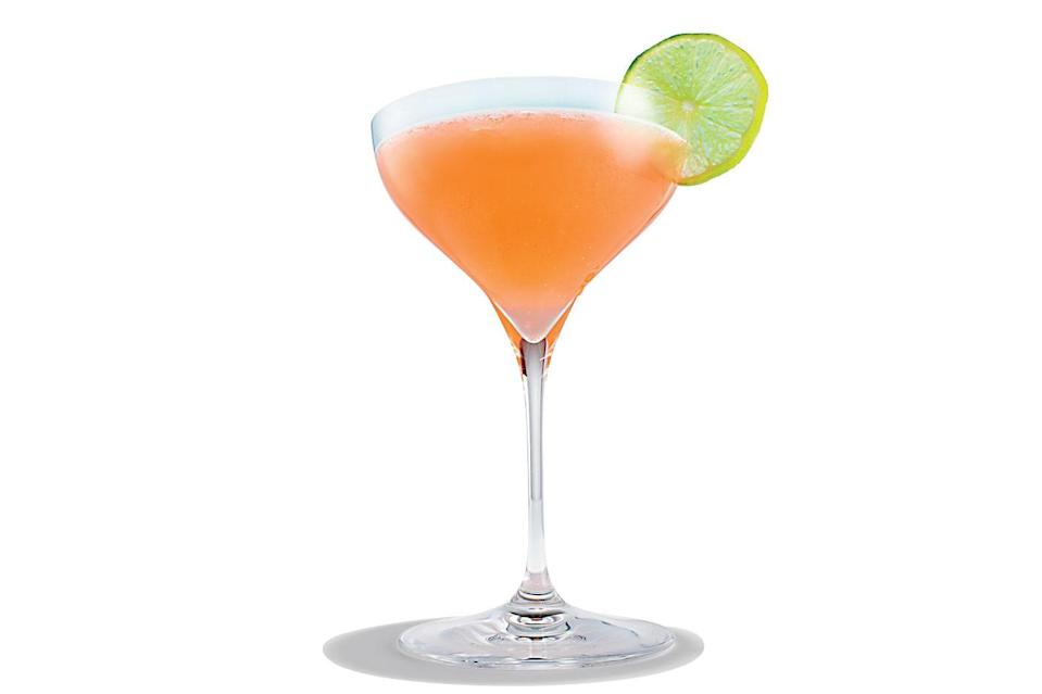 "Instead of triple sec, this cousin of the margarita has bittersweet Campari. Fresh grapefruit and lime give it bright, thirst-quenching flavor. <a href=""https://www.epicurious.com/recipes/food/views/siesta-tequila-cocktail?mbid=synd_yahoo_rss"" rel=""nofollow noopener"" target=""_blank"" data-ylk=""slk:See recipe."" class=""link rapid-noclick-resp"">See recipe.</a>"
