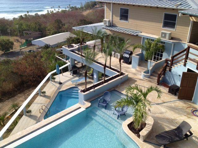 "This five bedroom oceanview home is a surfer's dream. The house has all the comforts you need, and then some, including a hammock and even an outdoor shower. <a href=""https://www.homeaway.com/vacation-rental/p394566"" target=""_blank"">Check it out</a>."