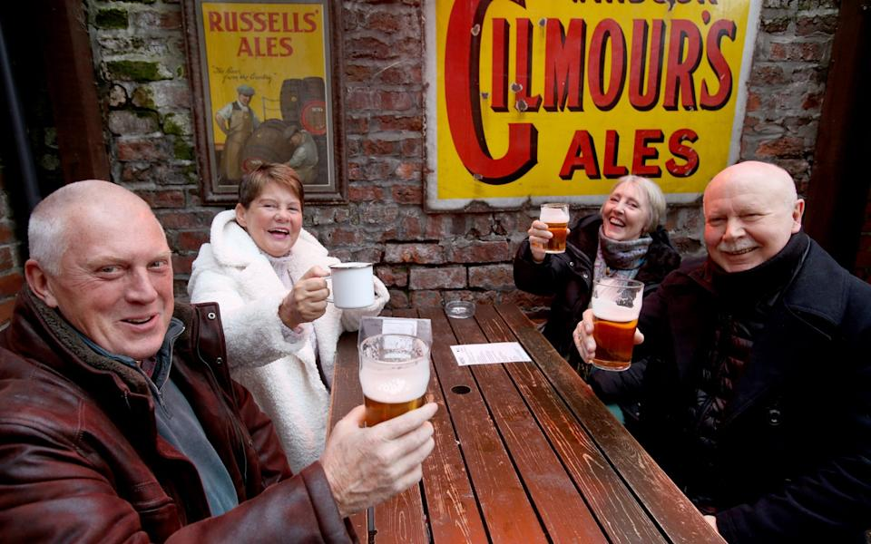 Drinkers outside Kelham Island's Fat Cat pub -  Lorne Campbell/Guzelian