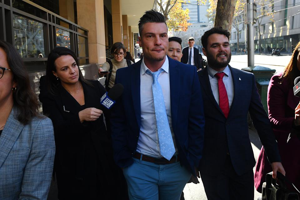 Three sexual assault charges against Ungermann over the same incident were struck out in Melbourne Magistrates Court on Friday. Photo: AAP