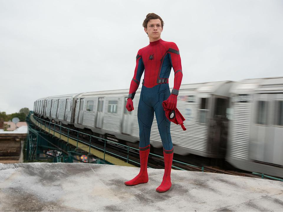 Standing on his own: Tom Holland in 2017's Spider-Man: Homecoming