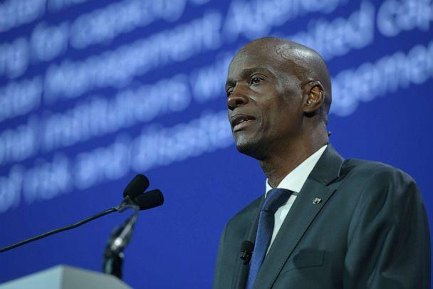 PHOTO: President of the Republic of Haiti H.E. Jovenel Moise speaks onstage during the 2018 Concordia Annual Summit at Grand Hyatt Hotel in New York City on Sept. 25, 2018 in New York City. (Leigh Vogel/Getty Images, FILE)