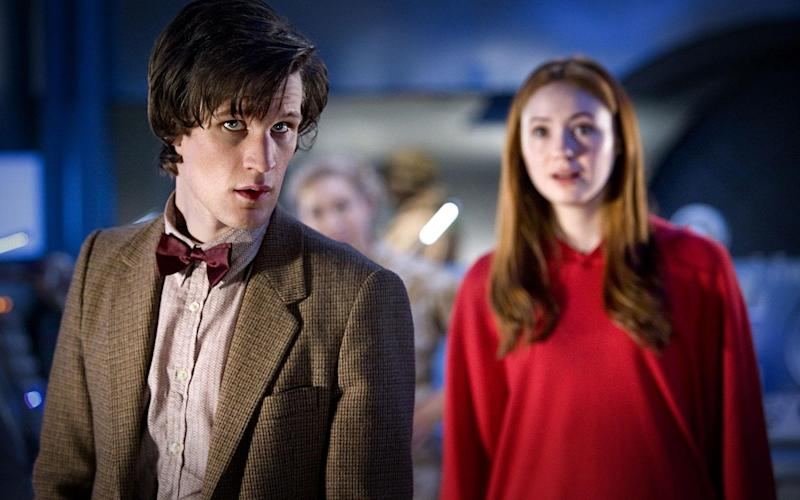 The Doctor played by Matt Smith and Amy Pond played by Karen Gillan - Credit: BBC