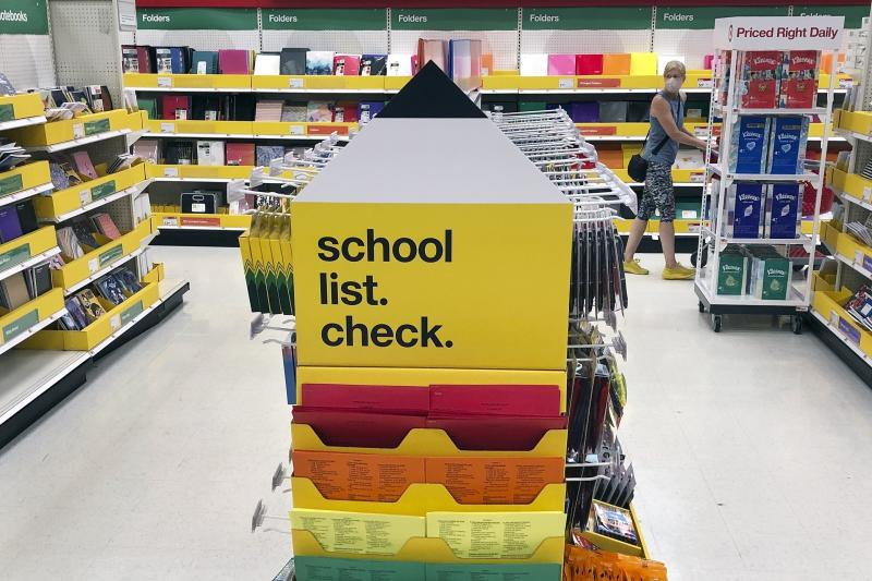 Virus Outbreak Back to School Shopping