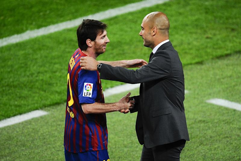 Guardiola won't speculate on a Messi reunion: Getty Images