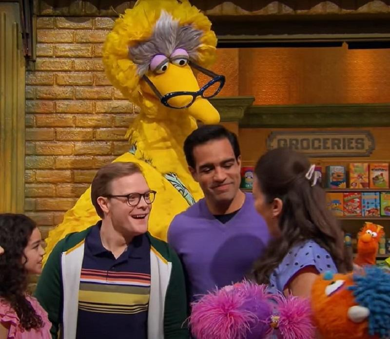 Dave (in purple) and Frank are a married gay couple in Sesame Street's Family Day episode. ― Screengrab via Youtube/SesameStreet