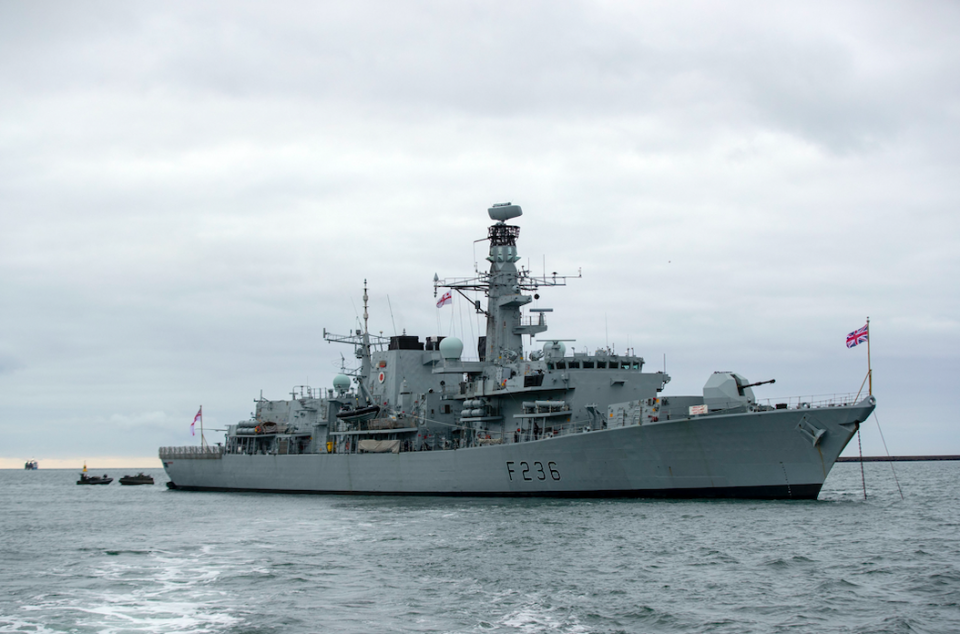 The MS Montrose was forced to position herself between the Iranian vessels and a British vessel in the Strait of Hormuz (PA/file photo)