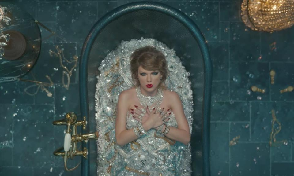 One of Taylor Swift's many personas in the video for 'Look What You Made Me Do'.